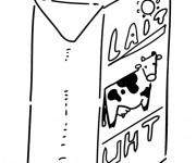 Coloriage Lait de vache