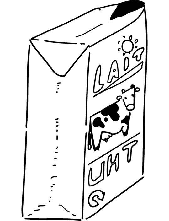 Coloriage et dessins gratuits Lait de vache à imprimer
