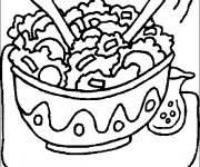 Coloriage et dessins gratuit Un repas nutritif à imprimer