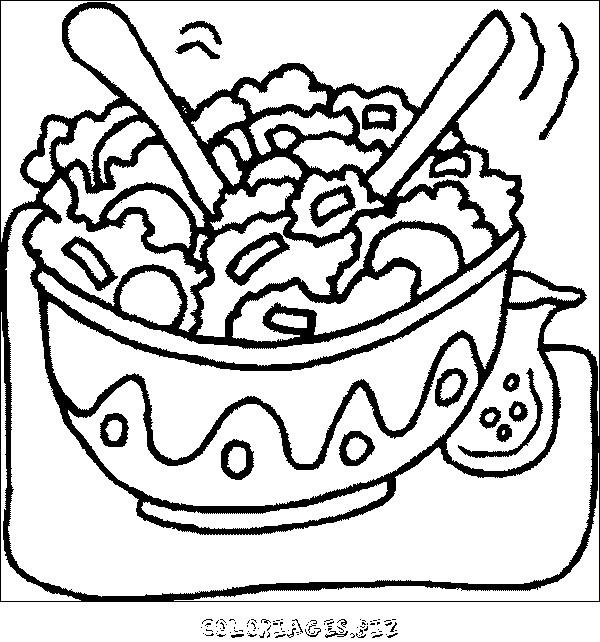 Coloriage et dessins gratuits Un repas nutritif à imprimer