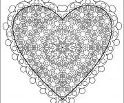 Coloriage et dessins gratuit Amour à découper à imprimer