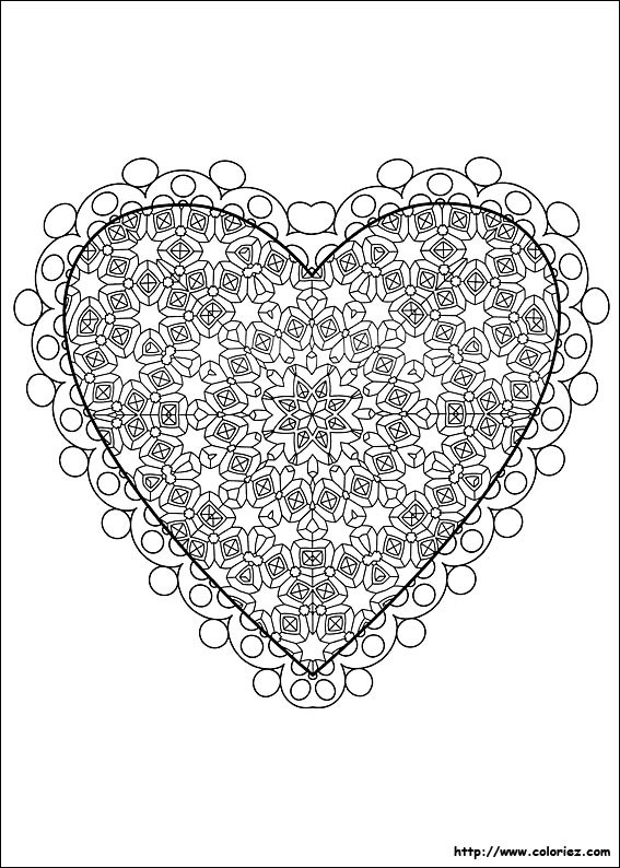 Coloriage et dessins gratuits Amour à découper à imprimer