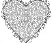 Coloriage Amour Coeur