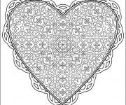 Coloriage et dessins gratuit Amour Coeur à imprimer