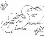 Coloriage Amour Je T'aime