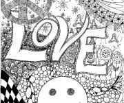 Coloriage Amour magique