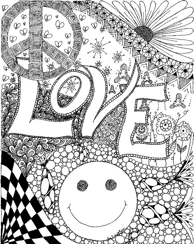Coloriage et dessins gratuits Amour magique à imprimer