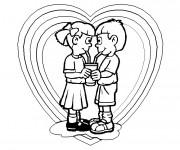 Coloriage Amour pour enfant
