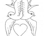 Coloriage et dessins gratuit Amour Saint-Valentin à imprimer