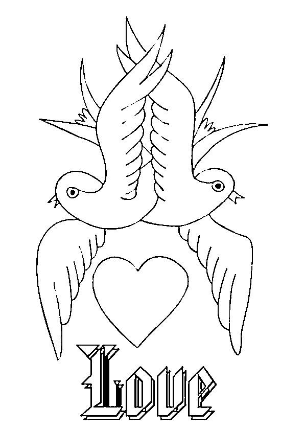Coloriage et dessins gratuits Amour Saint-Valentin à imprimer