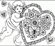 Coloriage Ange d'Amour