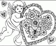 Coloriage et dessins gratuit Ange d'Amour à imprimer
