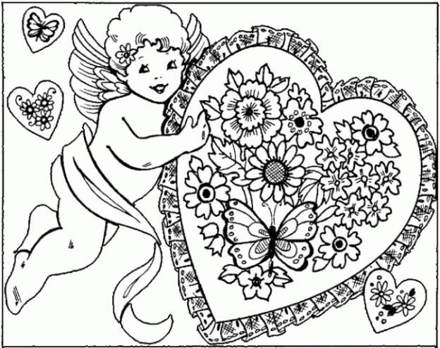 Coloriage et dessins gratuits Ange d'Amour à imprimer