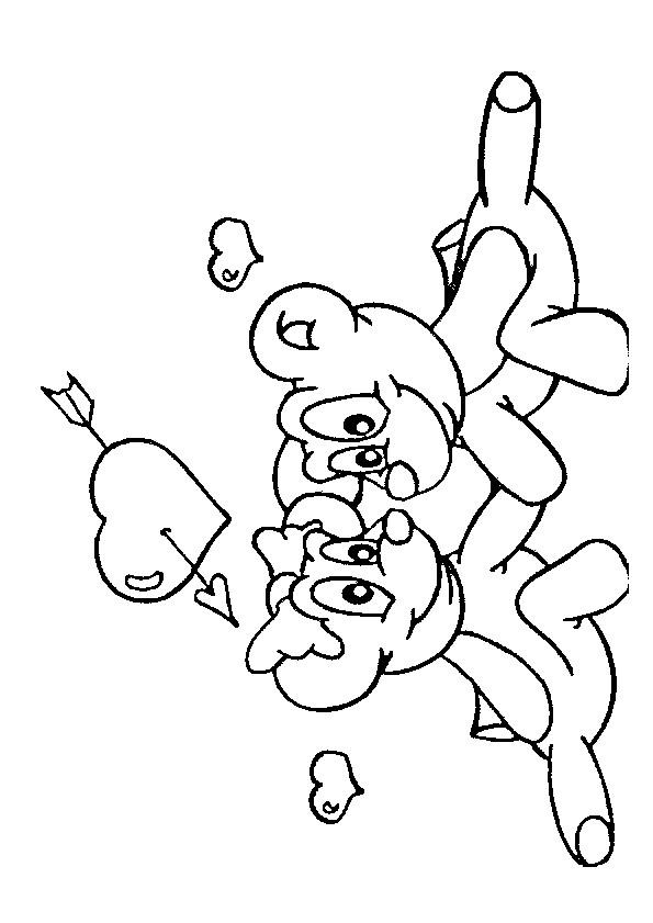 Coloriage et dessins gratuits Animaux en Amour à imprimer