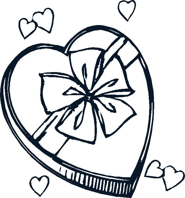 Coloriage et dessins gratuits Cadeau Amour superbe à imprimer