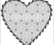 Coloriage Coeur Amour stylisé
