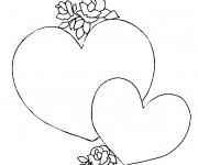 Coloriage Coeur d'Amour à télécharger