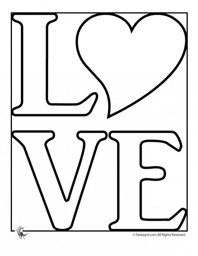 Coloriage Expression D Amour Facile Dessin Gratuit A Imprimer