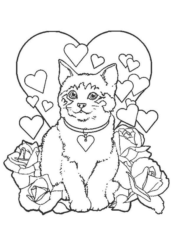 Coloriage et dessins gratuits Illustration Amour à imprimer