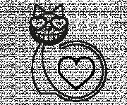 Coloriage et dessins gratuit Le Chat Amoureux à imprimer