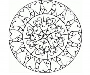 Coloriage Mandala Amour