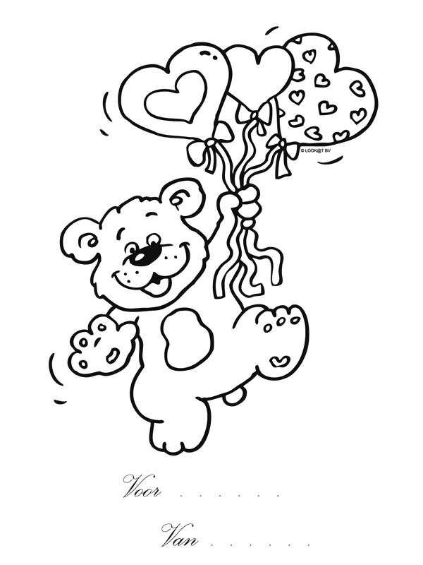 Coloriage et dessins gratuits Ours Porte des Ballons à imprimer