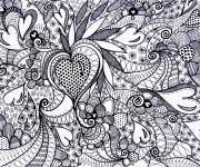 Coloriage Tableau Amour à décorer