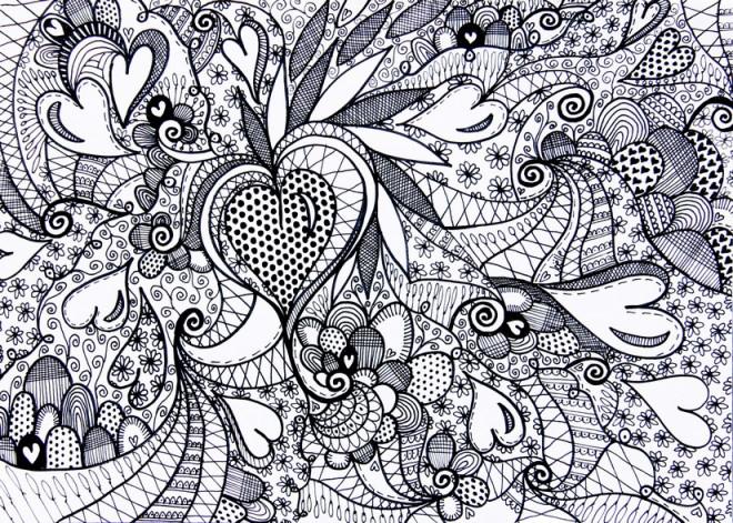 Coloriage et dessins gratuits Tableau Amour à décorer à imprimer