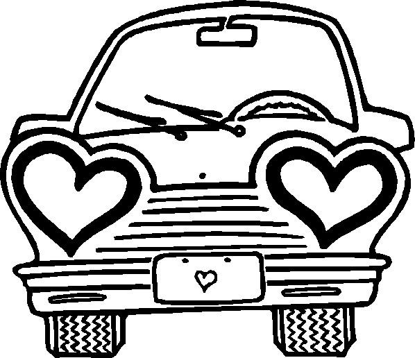 Coloriage et dessins gratuits Voiture Amoureux à imprimer