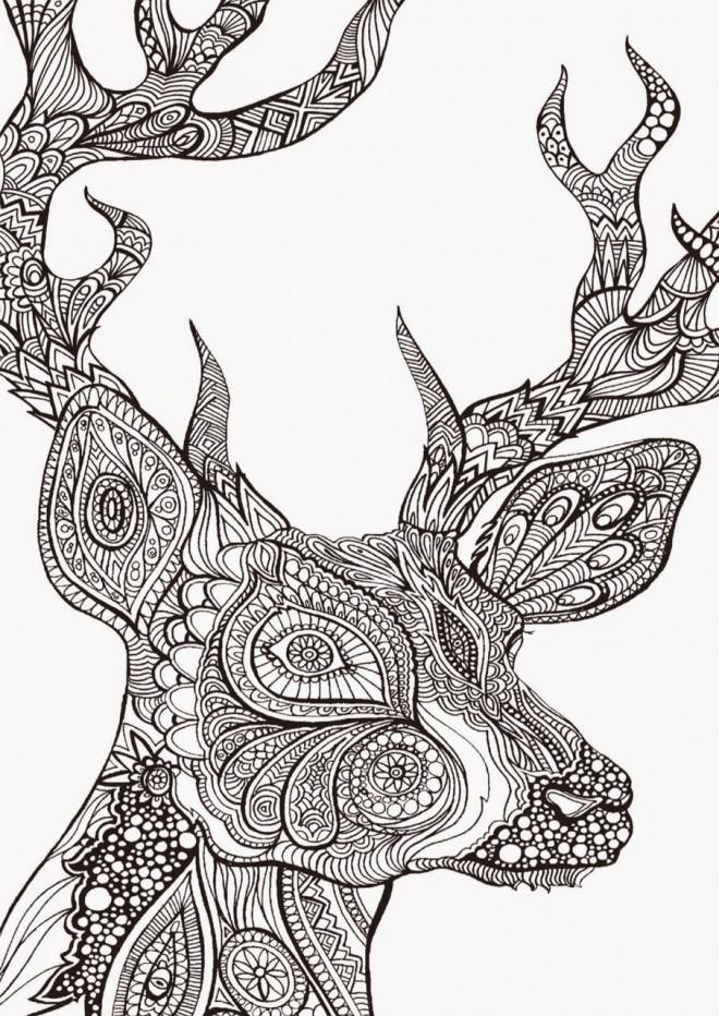 Coloriage Anti-Stress Zen Animal dessin gratuit à imprimer