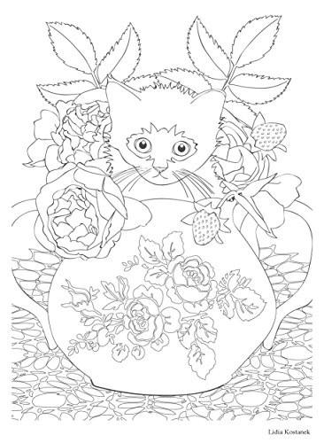 Coloriage et dessins gratuits Anti-Stress Chat mignon à imprimer