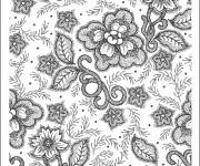 Coloriage et dessins gratuit Anti-Stress en noir et blanc à imprimer
