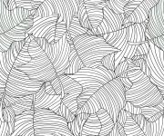 Coloriage et dessins gratuit Anti-Stress Feuilles d'arbre mandala à imprimer