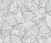 Coloriage Anti-Stress Feuilles d'arbre mandala