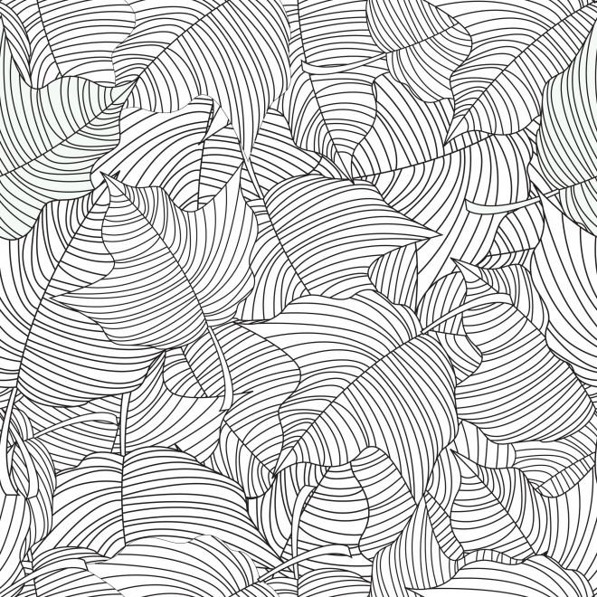 Coloriage et dessins gratuits Anti-Stress Feuilles d'arbre mandala à imprimer