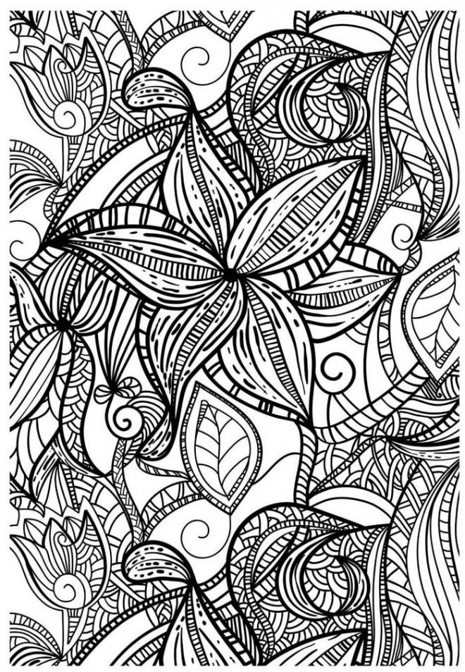 Coloriage Anti-Stress fleur dessin gratuit à imprimer