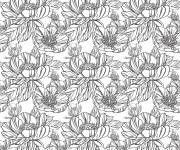 Coloriage et dessins gratuit Anti-Stress Fleurs magnifques à imprimer