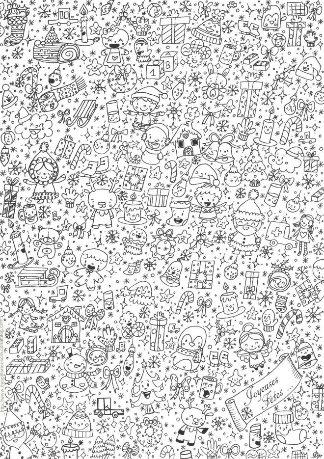 Coloriage et dessins gratuits Anti-Stress Noel pour Les Petits à imprimer