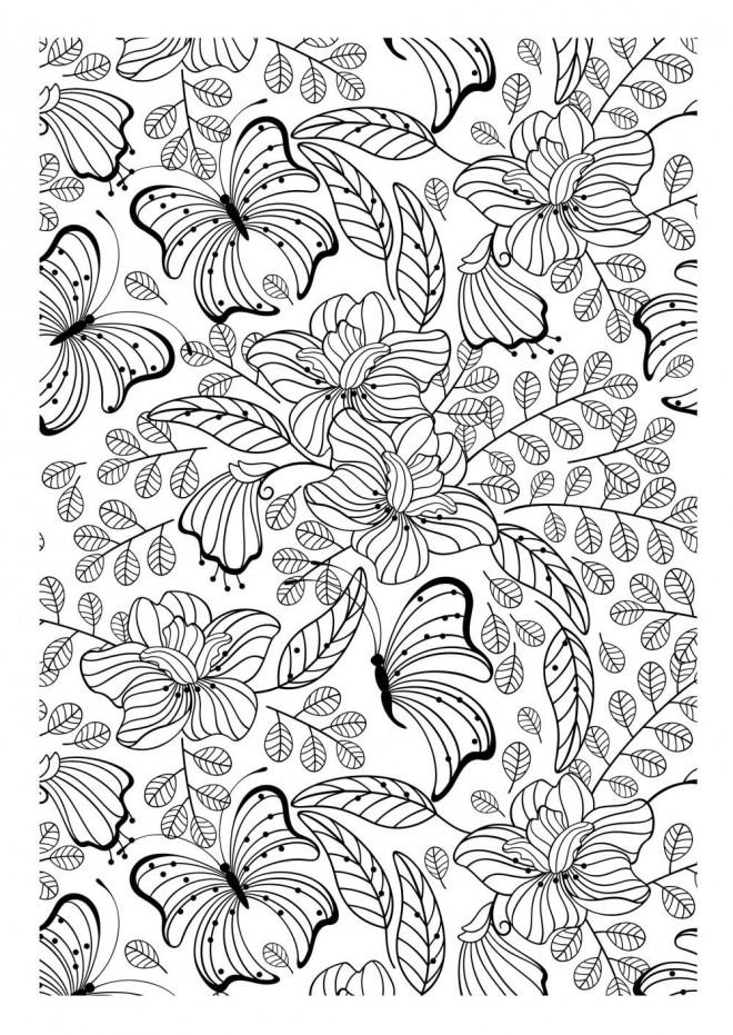 Coloriage et dessins gratuits Anti-Stress Papillon à imprimer