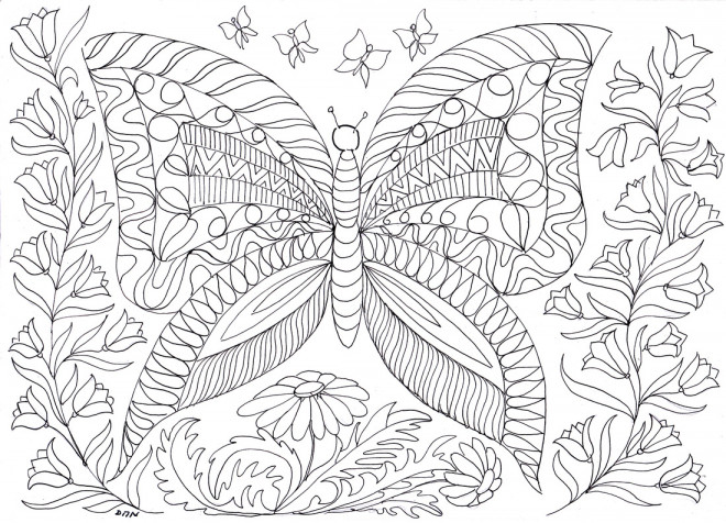 Coloriage anti stress papillons dessin gratuit imprimer - Dessins anti stress ...