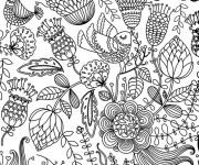 Coloriage et dessins gratuit Des Fleurs Anti-Stress à imprimer