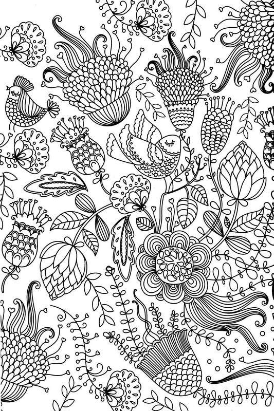 Coloriage et dessins gratuits Des Fleurs Anti-Stress à imprimer