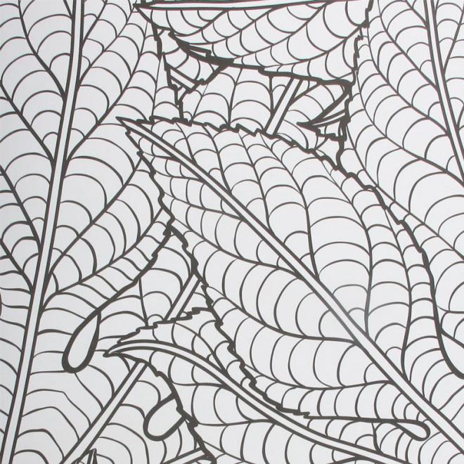 Coloriage psych d lique feuilles dessin gratuit imprimer - Coloriage fleur geometrique ...