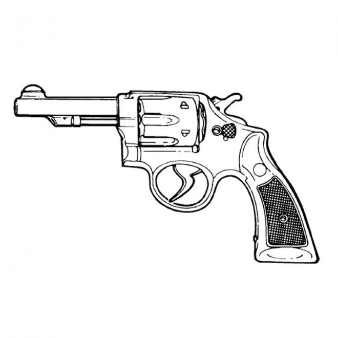 Coloriage et dessins gratuits Arme à Feu à imprimer