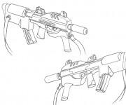 Coloriage Arme de Guerre