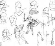 Coloriage dessin  Armes 7