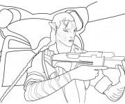 Coloriage et dessins gratuit Armes de film à imprimer