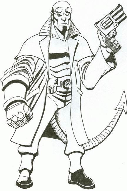 Coloriage et dessins gratuits Armes de Film Hell Boy à imprimer