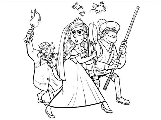 Coloriage et dessins gratuits Armes domestique Disney à imprimer