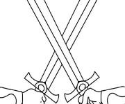 Coloriage Armes Épées